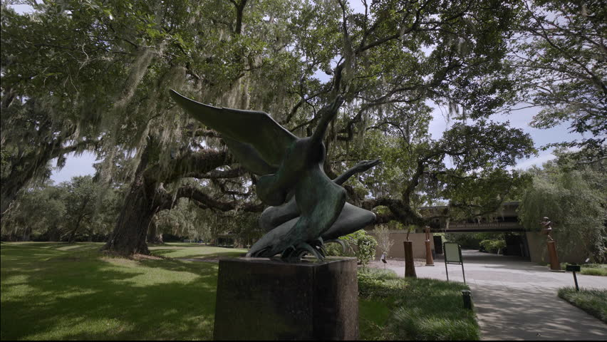 The Giant Oaks Of Brookgreen Gardens, Myrtle Beach , South Carolina, USA,  Jul