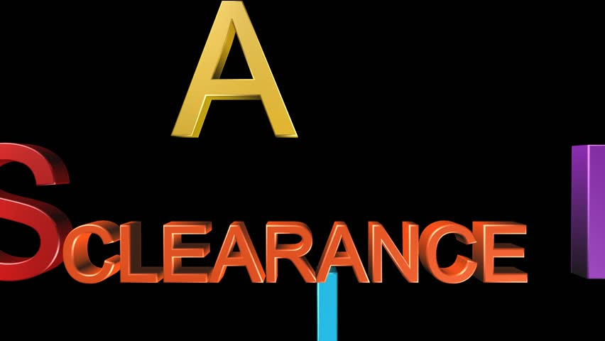 on clearance meaning