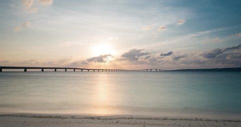 Irabu Bridge sunset time lapse