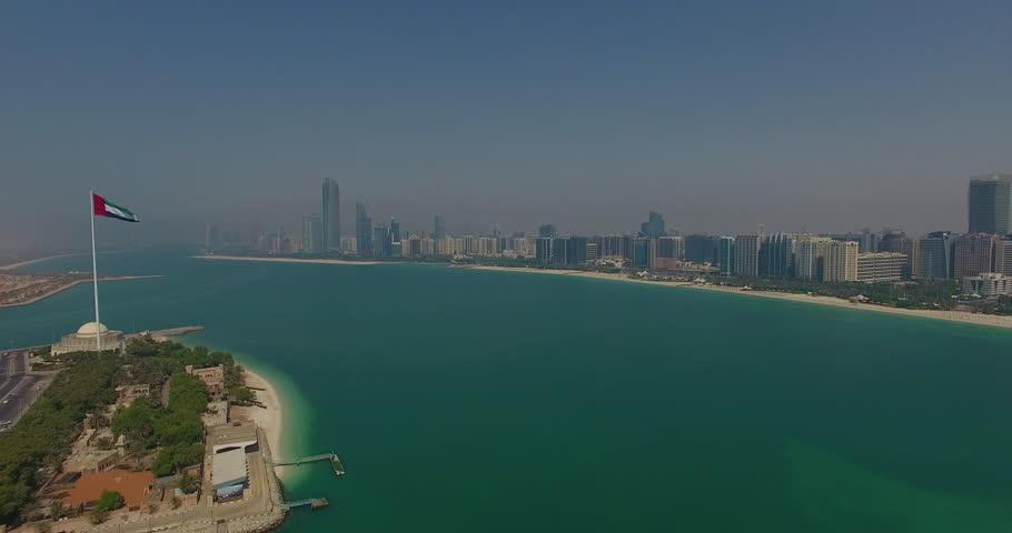 Abu Dhabi Skyline and Flag