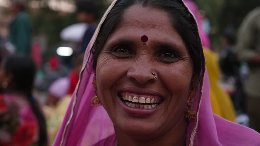 Portrait of happy Woman in Jodhpur, India - Slow Motion | Shutterstock HD Video #22405399