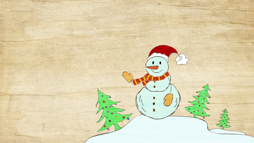 Animated snowman.   Shutterstock HD Video #22459216
