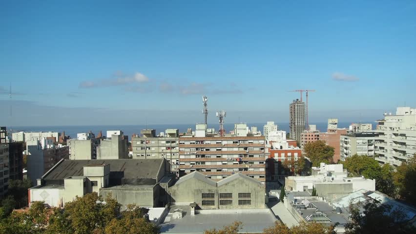 Uruguay, Montevideo, Cityscape viewed from the City Hall(Intendencia de Montevideo).