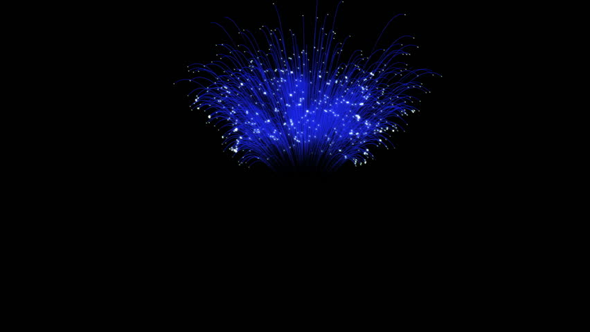 Spectacular Fireworks show, blue linear fireworks, multiple lines. Full HD Ver. 20