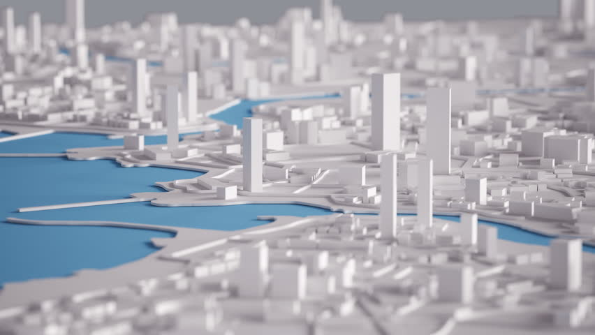 Aerial View of City Buildings 3D Rendering 4K Animation  | Shutterstock HD Video #22522639