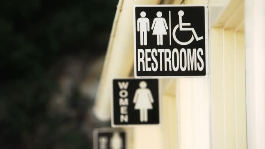 Bathroom Signs Video bathroom sign stock footage video | shutterstock