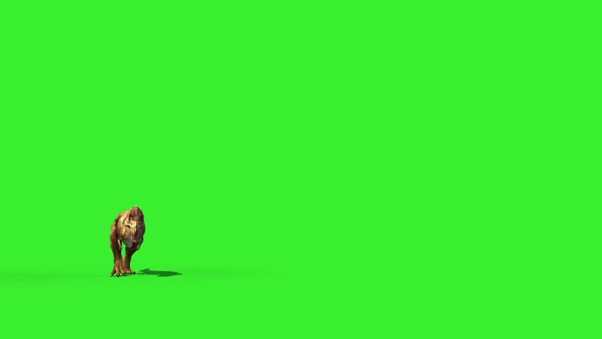 T Rex Tyrannosaur Feathered Run Jurassic World Dinosaurs Green Screen
