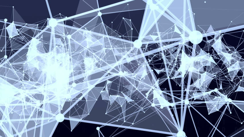 Abstract moving connection structure background with text Web studio | Shutterstock HD Video #22636369