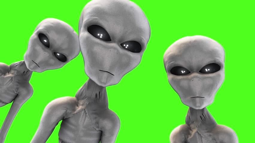 Alien Gray Abduction UFO Green Screen