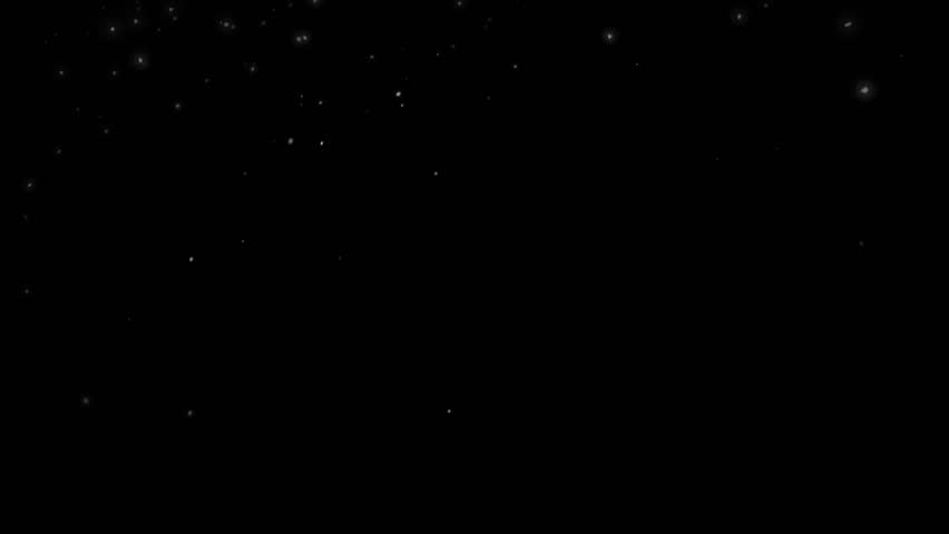 High quality motion animation representing snow falling, animated on a black background. #22746439