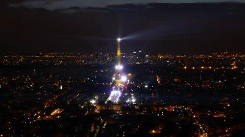 Timelapse, video, 4k, Eifel Tower, paris