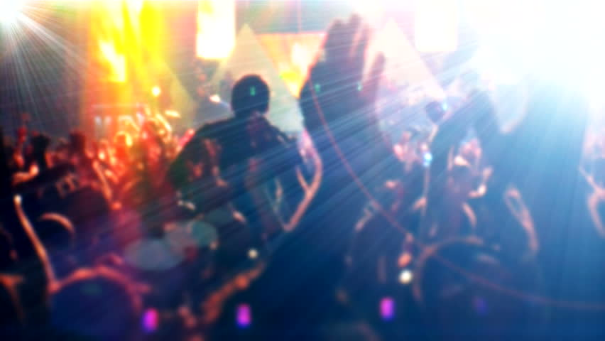 "Silhouettes of concert crowd ( Series 6 - Version from 1 to 5 ) +"" Thing Different ""+"" You can find every week new Footage ""+""Look at the other Footage series. ""[ You're lucky ] 