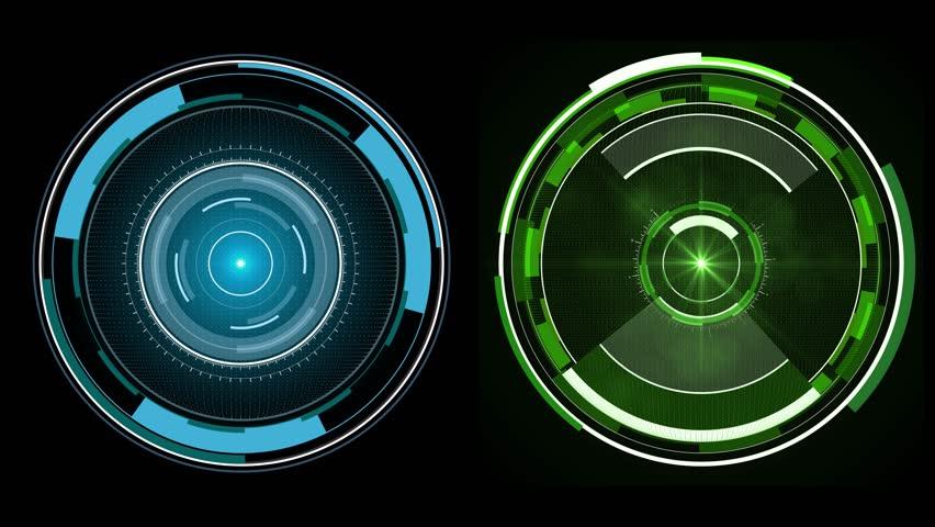 2 Colors of Sci-Fi Circles. HUD Elements  UI Elements. HUD Concept.    - sci fi spin radial circles    - hi-tech    - futuristic widget     4K | 3840 x 2160 | 0:30 sec |  | Shutterstock HD Video #22888849