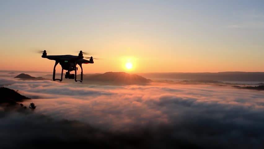 Drone flying over cloud in morning, in a aerial shot,  | Shutterstock HD Video #22929229