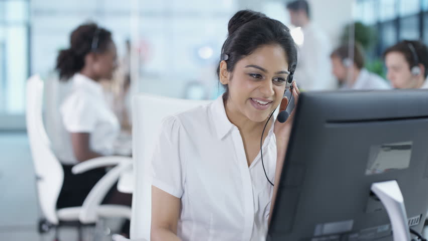 4K Business manager overseeing employees in busy call center Dec 2016-UK   Shutterstock HD Video #22933327