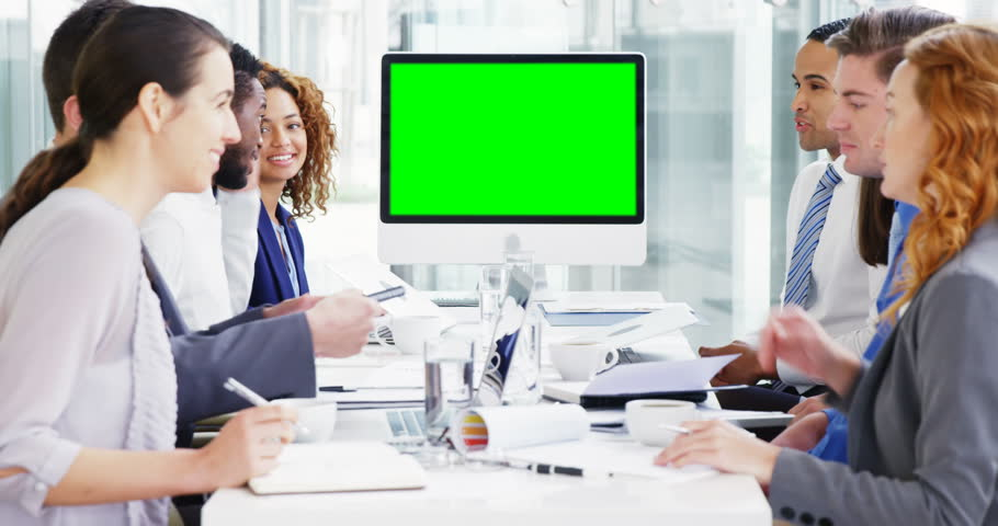 Businesspeople discussing with each other in meeting at conference room 4k | Shutterstock HD Video #22981837