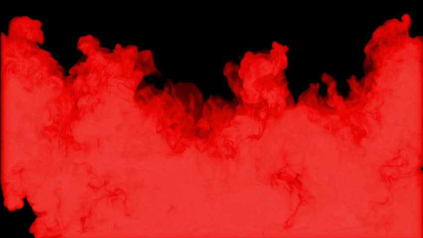 RED INK BACKGROUND. INK IN WATER ON BLACK BACKGROUND SERIES. 3d render voxel graphics. Version 3
