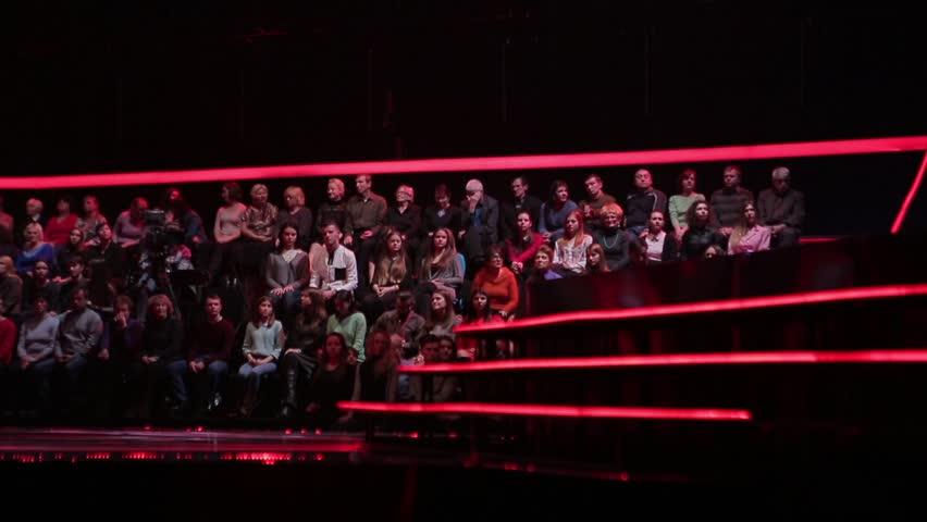 KYIV, UKRAINE - NOVEMBER 3, 2015. The audience in the TV Studio