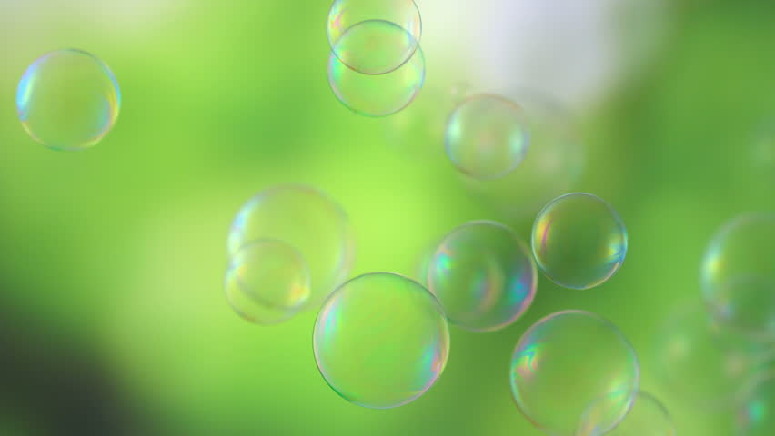 Soap Bubbles Floating Around Shooting With High Speed Camera - High speed liquid bubble photography