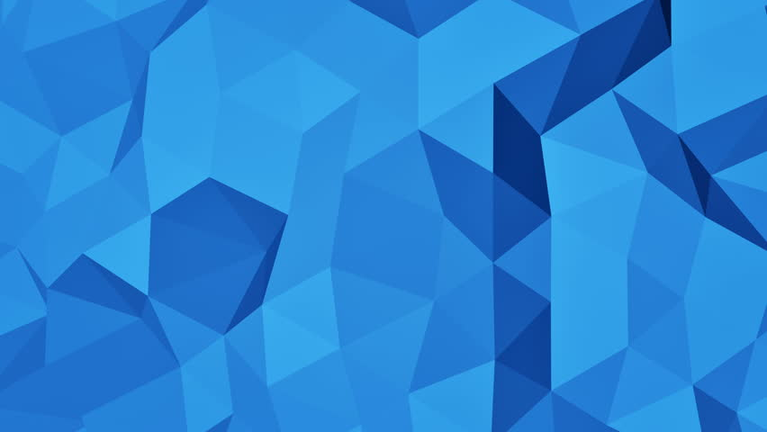 Blue 3d polygonal pattern abstract motion background Footage