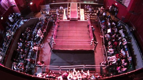 LONDON - April 1: Wrestling RIng Timelapse during BritWres-Fest 2012 on April 1, 2012