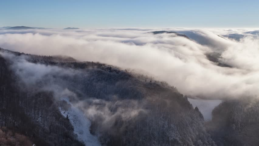 Winter mountain with clouds - lime lapse | Shutterstock HD Video #23222935