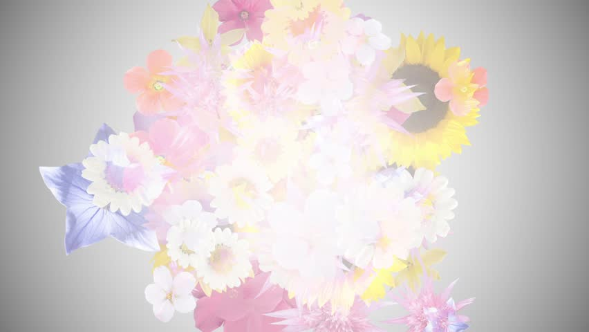 Bouquet image,gray background 2