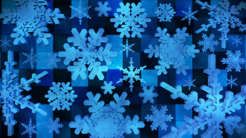 """This Background is called """"Broadcast Spinning Hi-Tech Snow Flakes 03"""", which is 4K (Ultra HD) (i.e. 3840 by 2160) Background. Its Frame Rate is 30 FPS, it's 8 Seconds Long, and is Seamlessly Loopable. 
