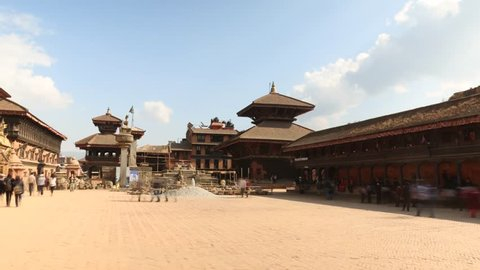 compilation of hyperlapse / timelapse clips of famous sightseeing spots in Nepal