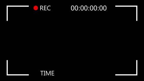 Video Camera Screen Interface. Recording interface
