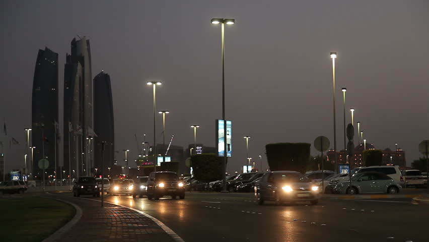 Evening city Abu Dhabi