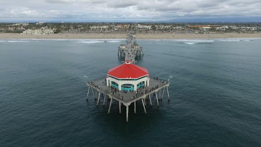 Aerial of Huntington Beach Pier mov Stock Footage Video (100% Royalty-free)  23420899 | Shutterstock