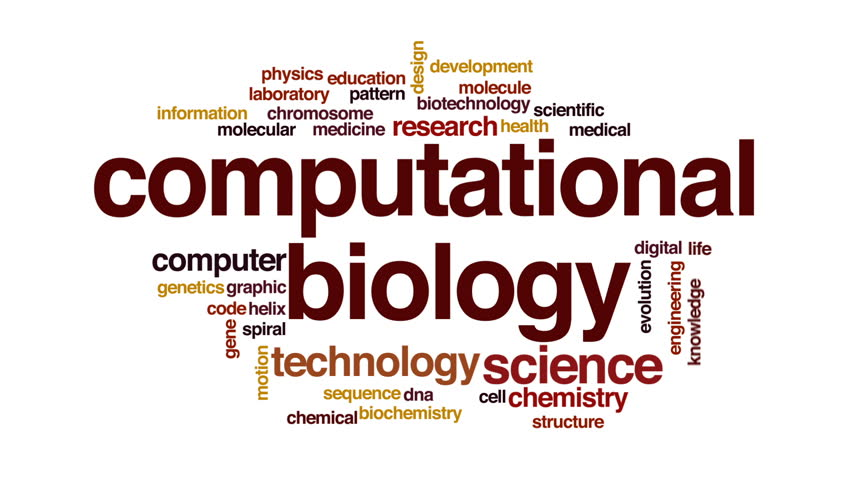 Computational Biology Animated Word Cloud, Stock Footage Video ...
