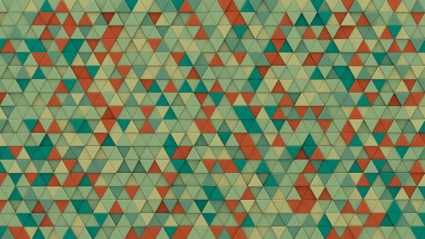 Multicolor chaotic extruded triangles. Abstract hipster background with geometric elements. 3D render seamless loop smooth animation  | Shutterstock HD Video #23576869