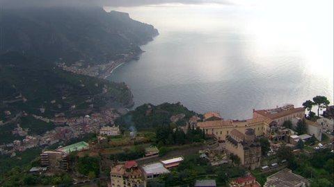 ravello village on top of hill with Minori bay
