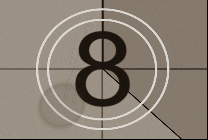 Old fashioned countdown, no. XI with film dust, scratches, hairs, and flickers. | Shutterstock HD Video #23737