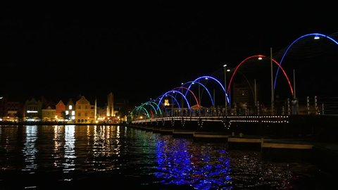 Willemstad, Curacao at night