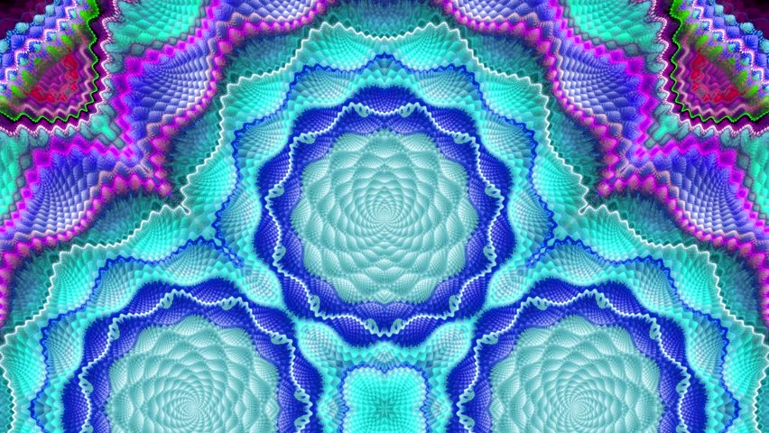 Abstract surreal loop motion background, variegated kaleidoscope   Shutterstock HD Video #23747929