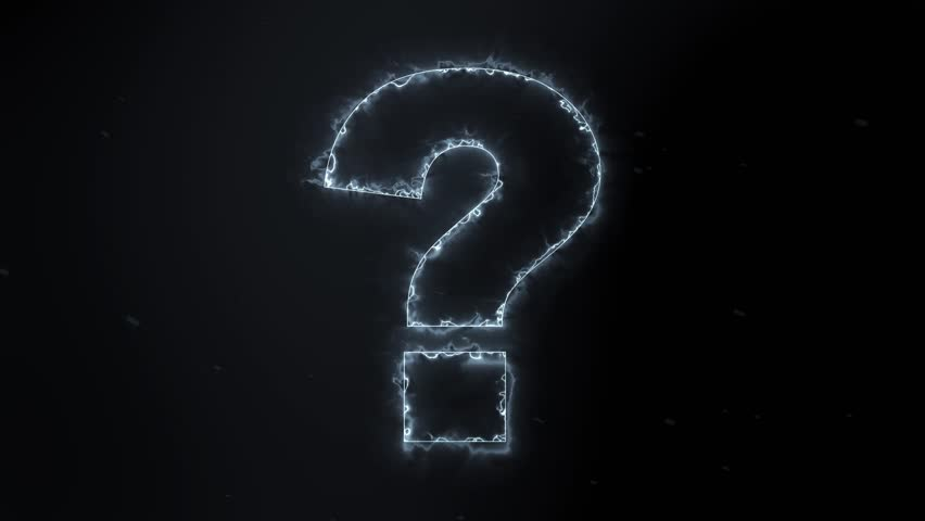 Stock Video Of Electrified Glowing Question Mark On Black