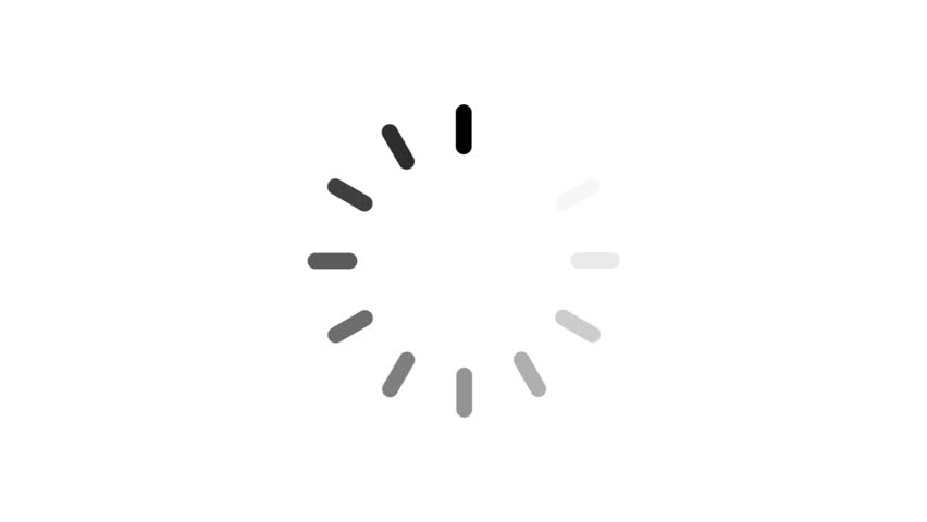 Animation - loading circle icon on white background with alpha channel. 4K video | Shutterstock HD Video #23804569