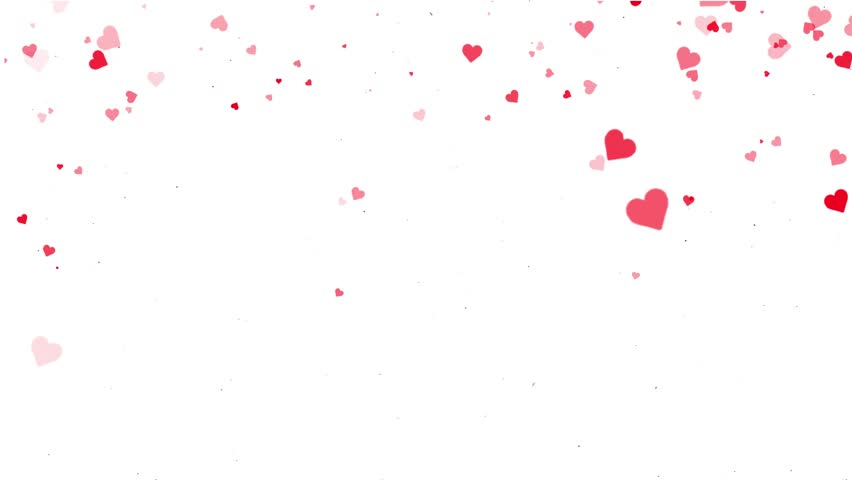 Hearts Falling Romantic Valentine Background Stock Footage Video 23824879 |  Shutterstock