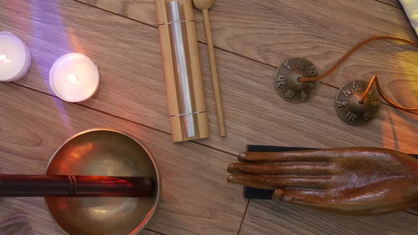 Top View Setup Of Meditation Objects Stock Footage Video 23856418 ...