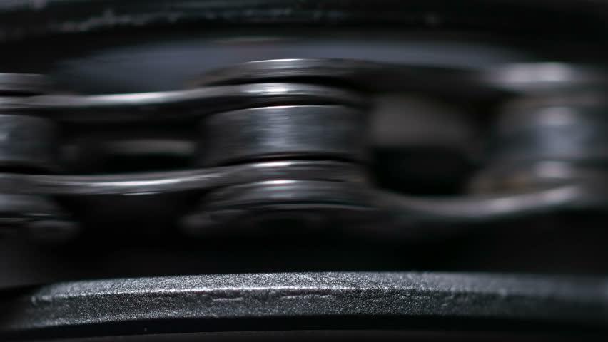 Chain from the bike shot in the macro lens | Shutterstock HD Video #23905870