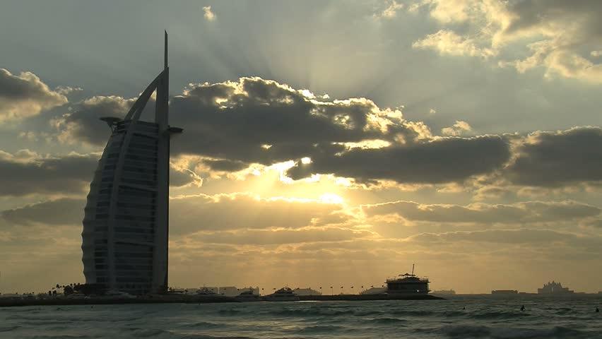 Dubai - Circa 2012: The Burj al Arab Hotel in 2012. The Burj al