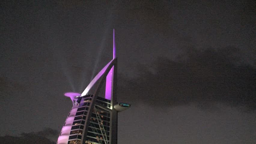 Dubai - Circa 2012: The Burj al Arab in 2012. Burj al Arab hotel