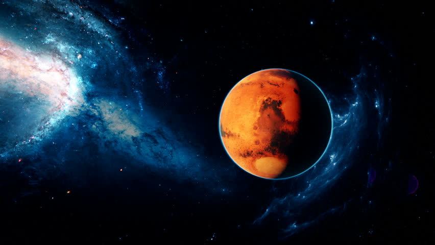 Stock Video Of Realistic Beautiful Planet Mars From Deep