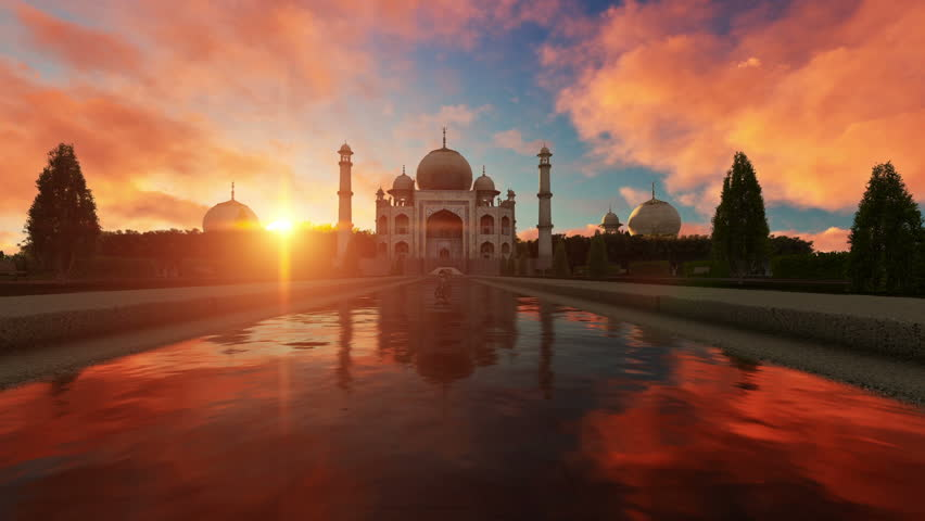 Taj Mahal at Sunset | Shutterstock HD Video #23983399