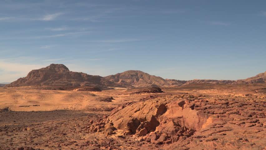 Desert mountain in the Sinai Peninsula.   Shutterstock HD Video #23993449