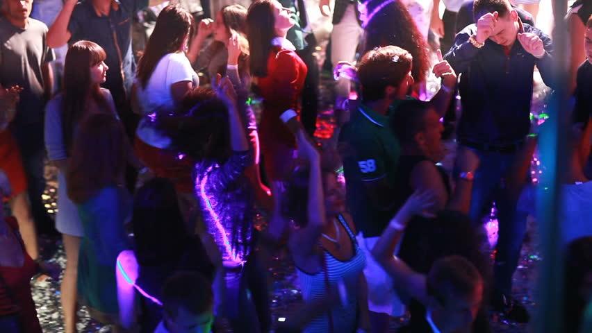 KIEV, UKRAINE - January 11, 2017: People dancing at the night club #24078739