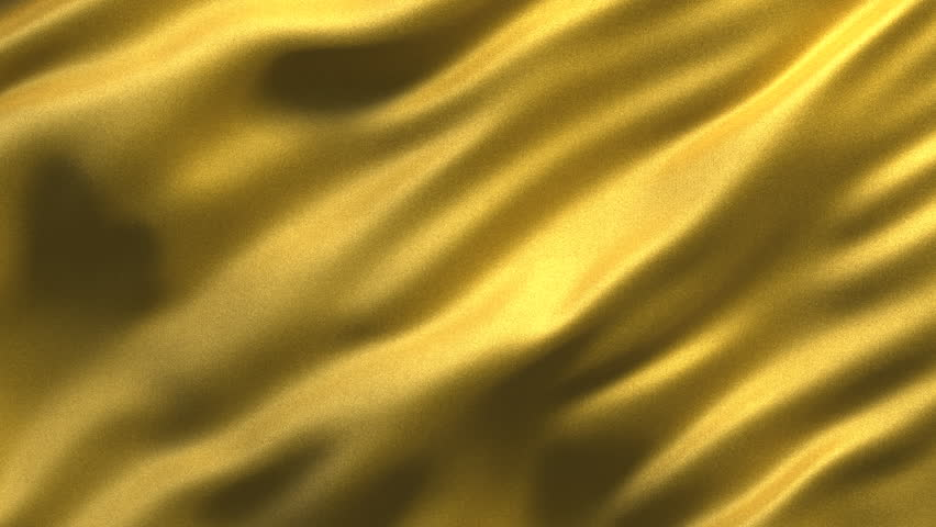 Seamless loop of abstract golden fabric waving slowly